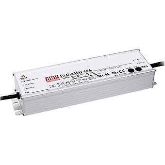 Mean Well HLG-240H-24A LED driver, LED transformer Constant voltage, Constant current 240 W 10 A 24 Vdc PFC circuit, Surge protection, adjustable