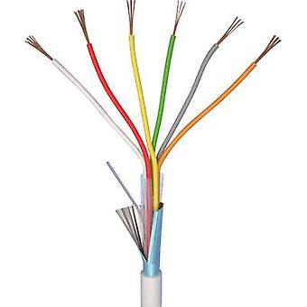Alarm wire LiYY 6 x 0.22 mm² White ELAN
