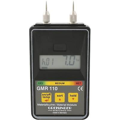 Plage de mesure de mètre Greisinger GMR 110 humidité bâtiment l'humidité 0 jusqu&à 100 vol % mesure gamme bois d'humidité 0 jusqu&à 100 % en volume