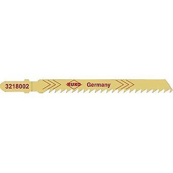 Jigsaw blad RUKO 3228002 løvtre, Gran, kryssfiner og fiber bord opptil 60 mm, parallelle kutt, rent snitt. Soft plast til 25 mm 5 eller flere PCer