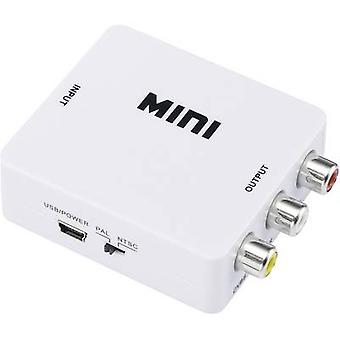 AV Converter [HDMI - RCA composite] 1920 x 1080 pix SpeaKa Professional SP-HDMI2AV