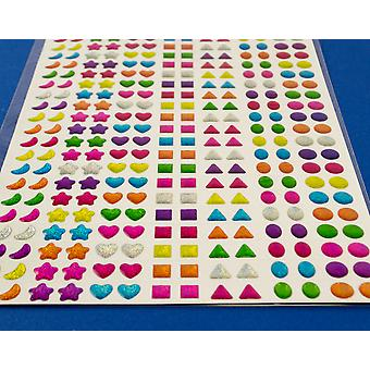 Assorted Self Adhesive Gel Jewels for Kids Crafts - 280pk