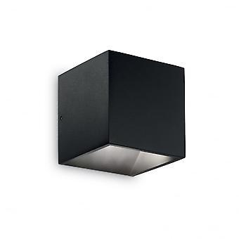 Ideal Lux Rubik Wall Light Black
