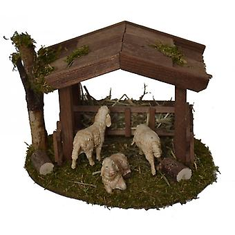 Nativity accessories stable Nativity set of shelter with 3 sheep Christmas crib