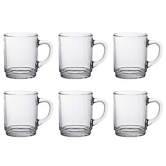Duralex Set of 6 Versailles Clear Mug, 26cl