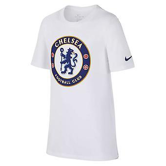 2018-2019 Chelsea Nike Crest t-shirt (White) - bambini