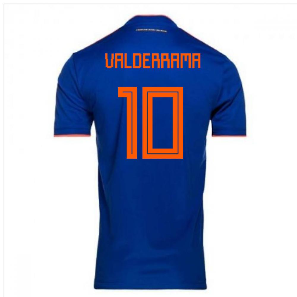 2018-2019 Colombia Away Adidas Football Shirt (Valderrama 10)
