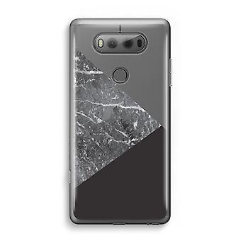LG V20 gennemsigtig sag (Soft) - marmor kombination