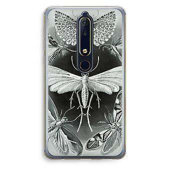 Nokia 6 (2018) Transparent Case (Soft) - Haeckel Tineida