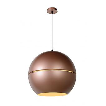 Lucide SEVENTIES Pendant D50 1xE27 Rose Gold