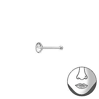 Runde - 925 Sterling Silber Nase Stollen - W37466x