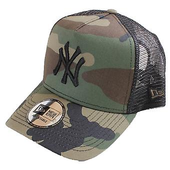 Ny æra New York Yankees ren A-Frame Trucker Cap - skov Camo/sort