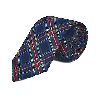 Traditionele marineblauw Tartan Tie, Check, Plaid