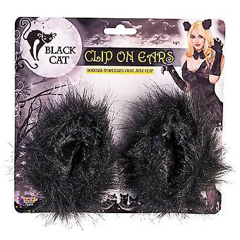 Bnov Black Cat Clip On Ears