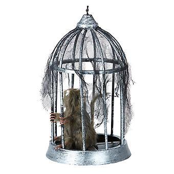Rat en Cage 32cm