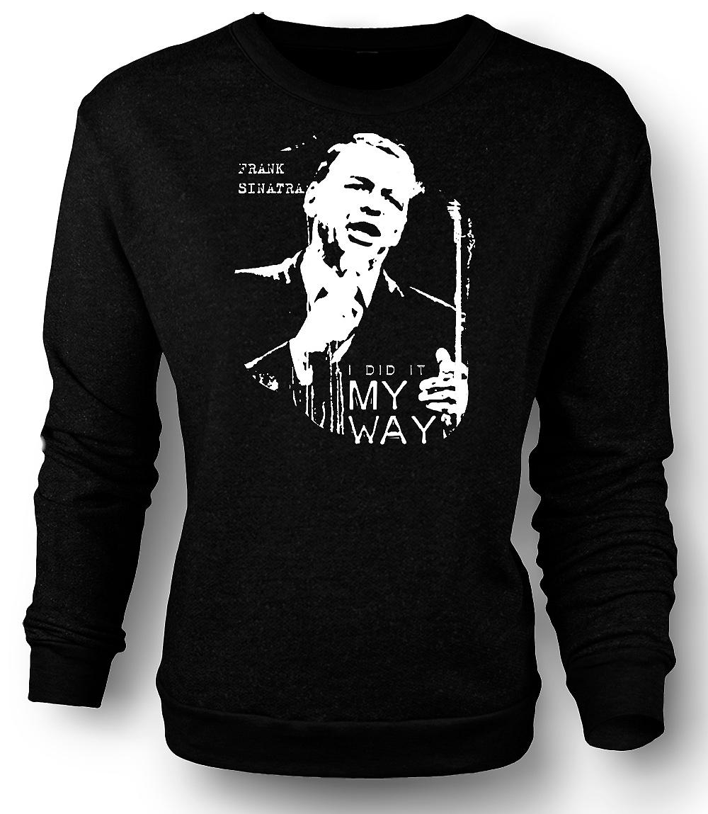 Mens Sweatshirt Frank Sinatra My Way - Swing