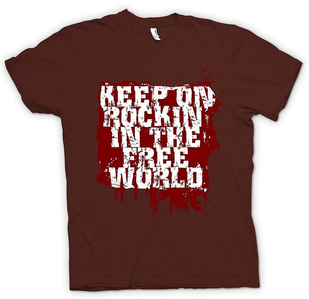 Herren T-Shirt - Keep On Rockin in der freien Welt