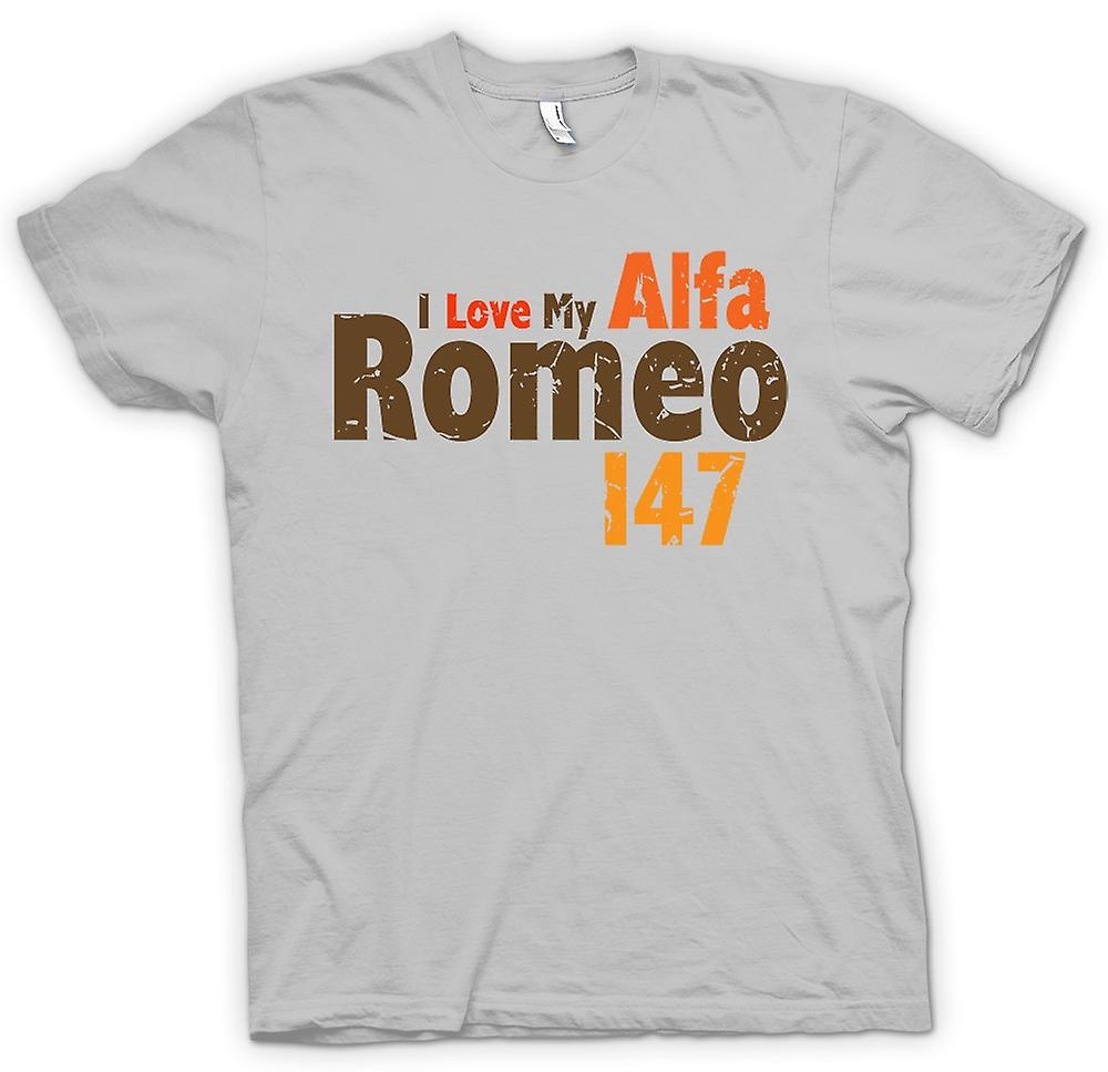 Mens T-shirt - I Love My Alfa Romeo - Auto Enthusiast