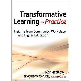 Transformative Learning en pratique: Insights from communautaire, milieu de travail et l'enseignement supérieur