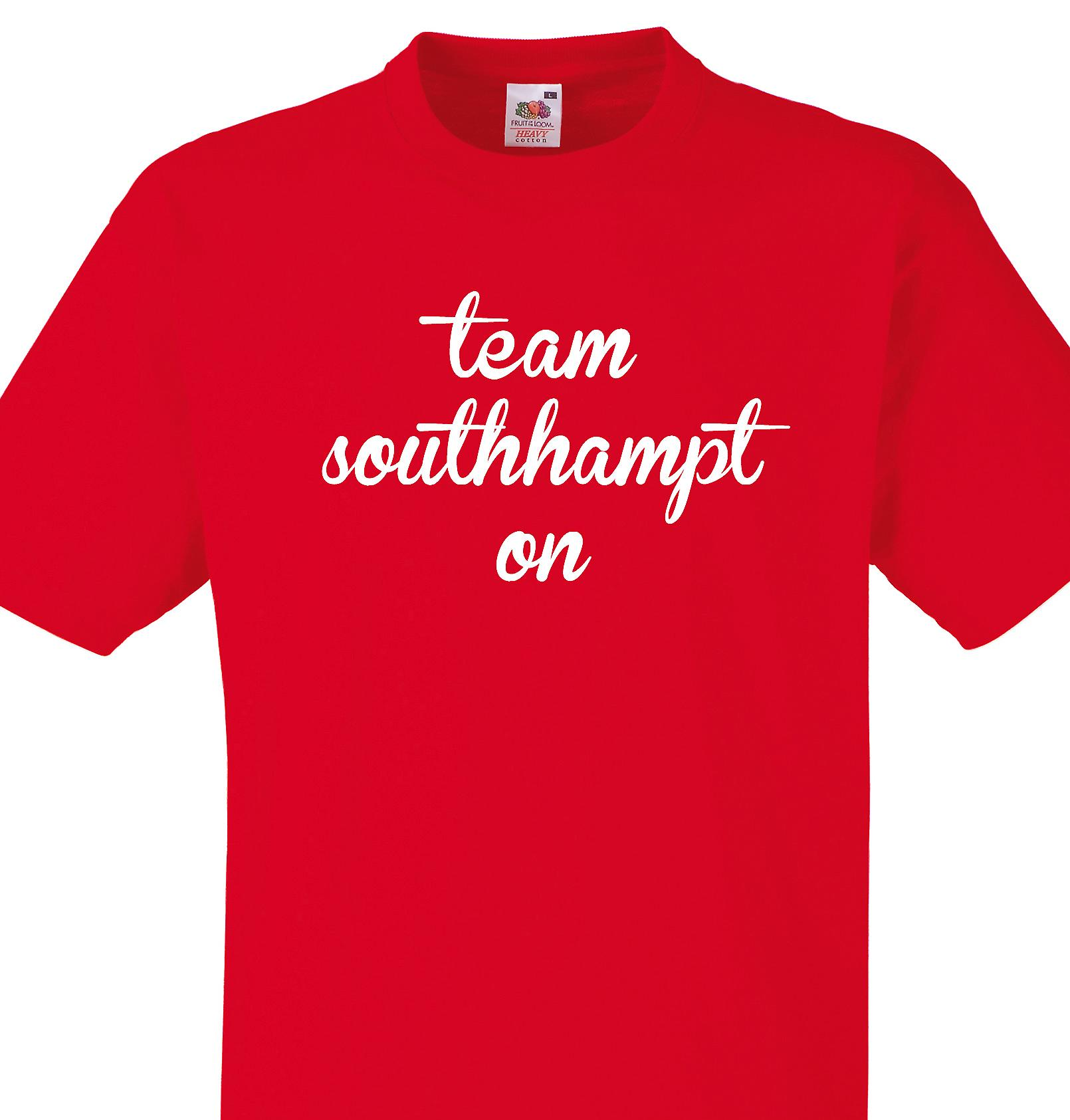 Team Southhampton Red T shirt