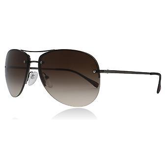 Prada Sport PS50RS 5AV6S1 Gunmetal PS50RS Pilot Sunglasses Lens Category 3 Size 62mm