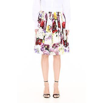 Dolce E Gabbana Multicolor Baumwollrock