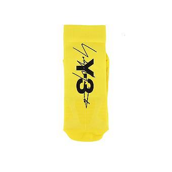 Yohji Yamamoto Yellow Fabric Socks