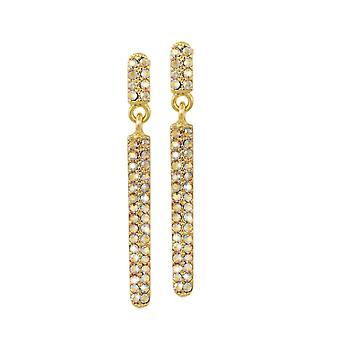 Eterna colección Catalunya topacio oro cristal austríaco tono gota pendientes perforados