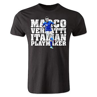Marco Verratti Italy Player T-Shirt (Black)