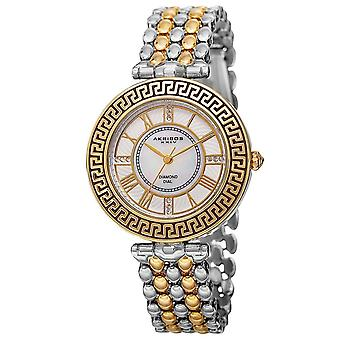 Akribos XXIV Women's Japanese Quartz Diamond Markers Unique Bracelet Watch AK808TTG