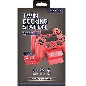 Venom PlayStation 4 Twin opladen docking station-rood (PS4)