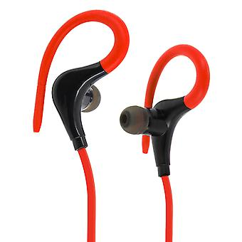 Wireless Bluetooth sport headphones integrated in line-mic + remote Black