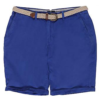 Scotch & Soda Belted Pima Cotton Shorts, Colour 54 Marine
