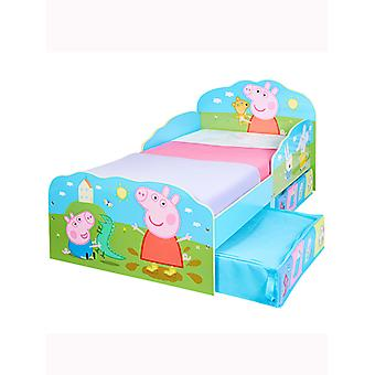 Peppa Pig Toddler Bed with Storage