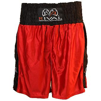 Rival Traditional Cut Dazzle Boxing Trunks - Red/Black