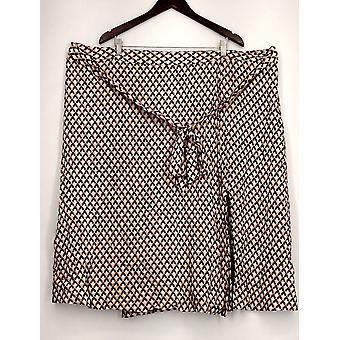 Who What Wear 26 Woman's Side Zip Side Slit Skirt w/ Attached Belt Black
