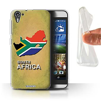 STUFF4 Gel/TPU Case/Cover für HTC Desire 826/South Africa/Afrika/Flagge Nations