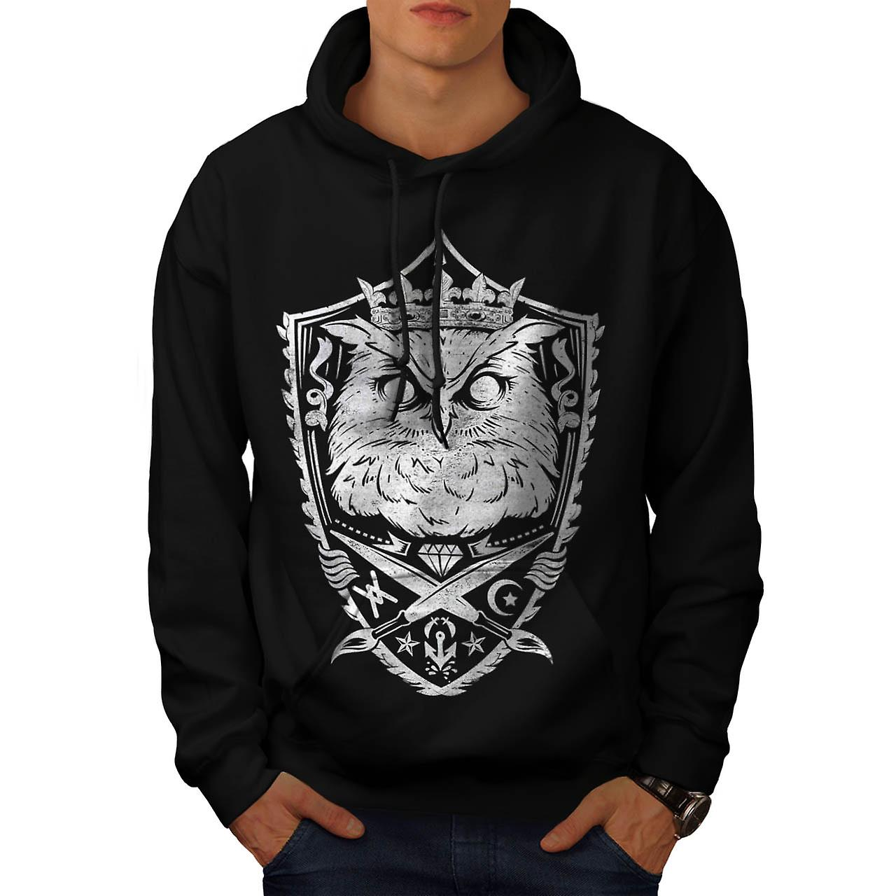 Danger Owl Kingdom Giant Bird Men Black Hoodie | Wellcoda