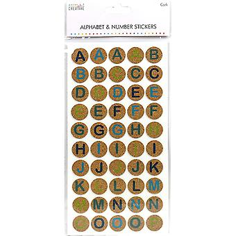 Simply Creative Alphabet & Number Stickers-Cork Circles SCSTK006