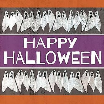 Счастливый Хэллоуин призраков плакат печати Shanni валлийский