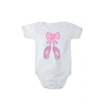 Romper with print slippers for baby body Ballet
