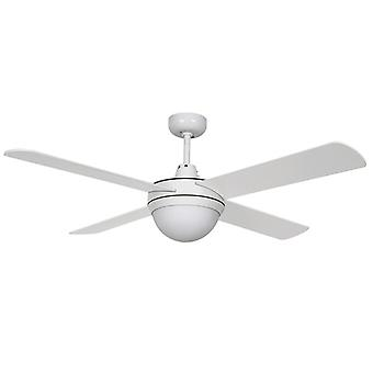 "Ceiling Fan Futura Eco White 122 cm / 48"" with lighting by Beacon"