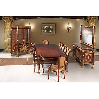 Baroque dining room antique style replica display cabinet sideboard table chairs
