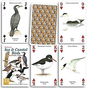 Sea & Coastal Birds set of 52 playing cards (+ jokers)    (hpc)