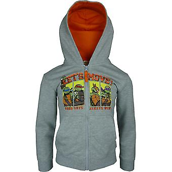 Boys Ninja Turtles Full Zip Hooded Sweatshirt