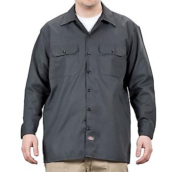Dickies - Long Sleeve Work Shirt - Charcoal Dickies574 Classic Mens Work Shirt