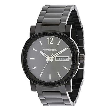 Wittnauer Black Ion Stainless Steel Chronograph Mens Watch WN3050