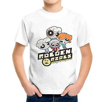 Golden Powerpuff Girls  Dorothy Rose Blanch Sophia Kid's T-Shirt