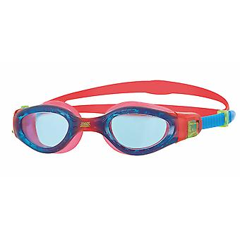 Zoggs Phantom Elite Junior Swim Goggle - Tinted Lens - Red/Blue