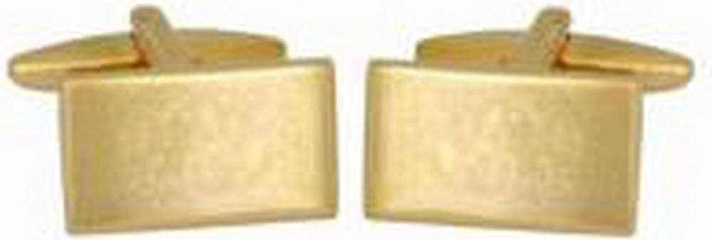 David Van Hagen Flat Cufflinks - Gold